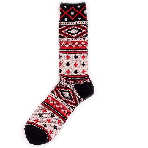 Yarn Works Socks - Work #10 - Red