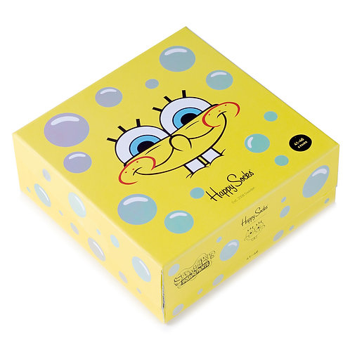 Happy Socks x SpongeBob - Набор из 6-ти пар носков