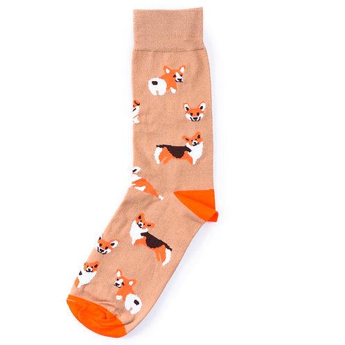 St.Friday Socks - Chelovek Cheloveku Volk a Corgi Corgi Corgi