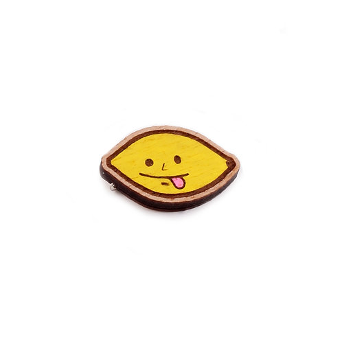 SUPER STUFF Деревянный значок - Lemon