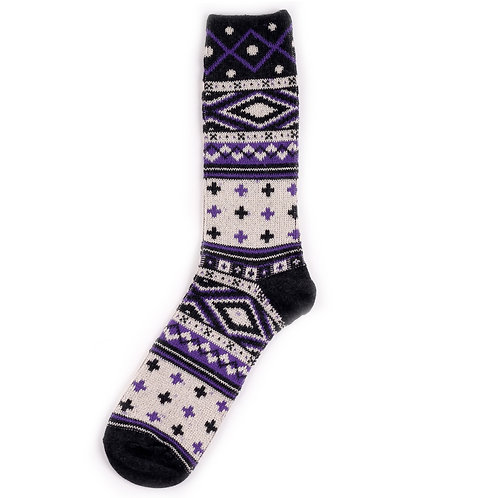 Yarn Works Socks - Work #10 - Purple
