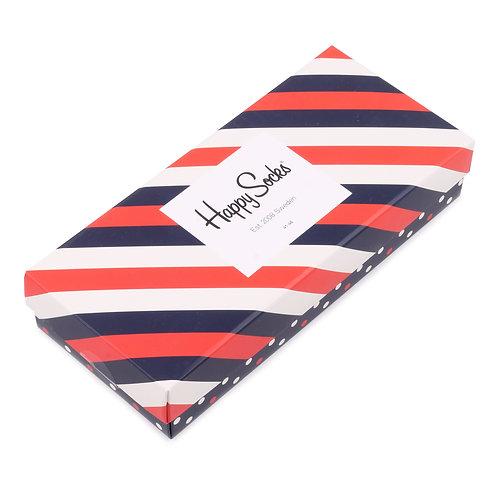Happy Socks Набор из 4-х пар носков - Stripe Filled Optic