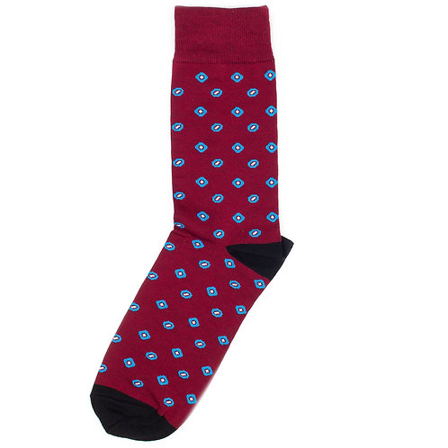 St.Friday Socks - Casual - Paisley - Red