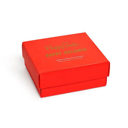 Happy Socks 2-Pack Holiday Socks Gift Set - Red