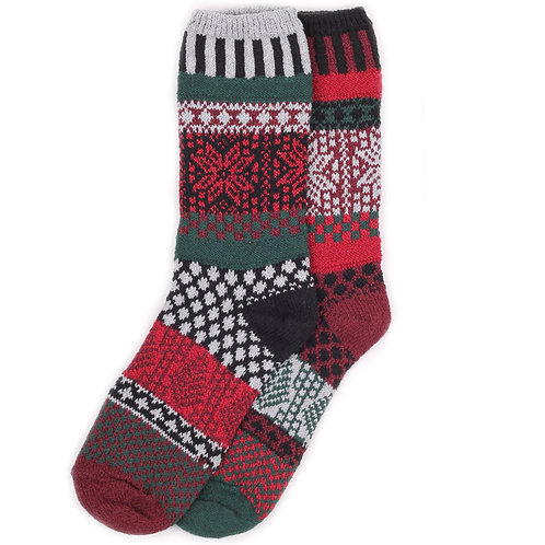 Solmate Socks - Poinsettia