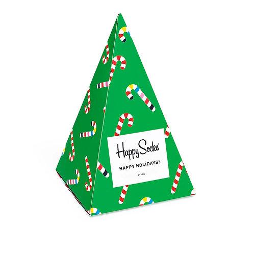 Happy Socks Набор из 3-x пар носков - Ёлочка Tree - Новогодний набор носков