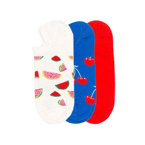 Happy Socks 3 Pack - Low - Multicolor