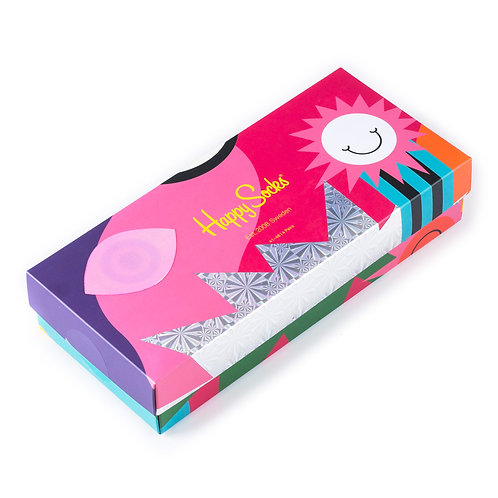 Happy Socks 4 Pair Gift Box - Psychedelic