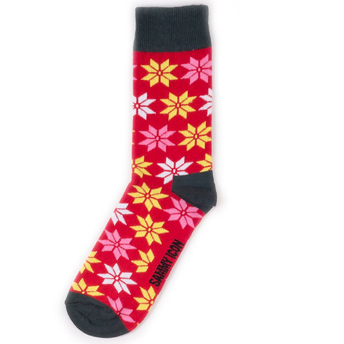 Sammy Icon Socks - Snowflakes