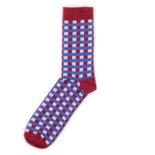 Socks'N'Roll - Check Small - Red/Blue