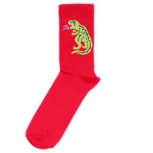 Никита Грузовик Носки с тираннозавром красные