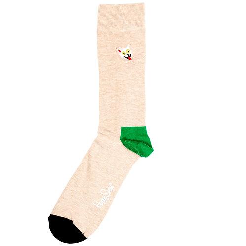 Happy Socks - Embroidery - Crazy Cat