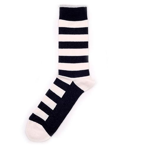 Democratique Socks Originals Striper Navy / Broken White