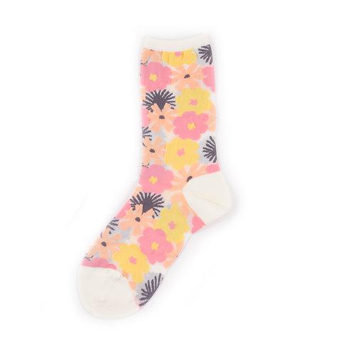 Hansel from Basel Flower Socks Pink