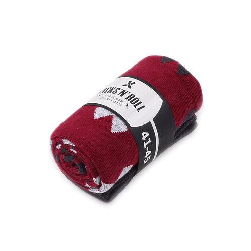 Socks'N'Roll - Crosses - Black/Grey/Red