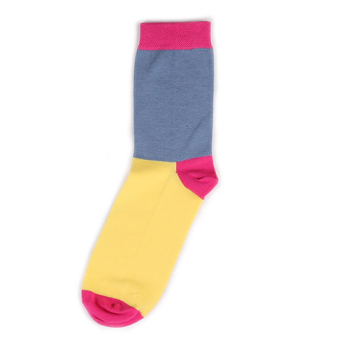 Socks'N'Roll - Color Block - Yellow/Blue