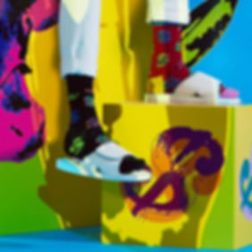 Дизайнерские носки со знаком доллара Happy Socks x Andy Warhol