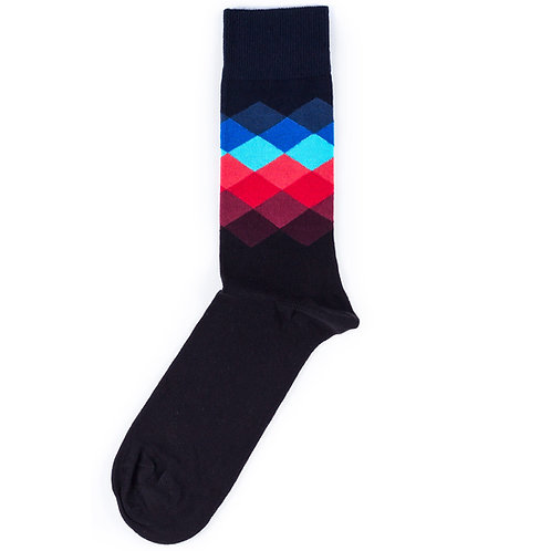 Happy Socks Faded Diamond - Navy