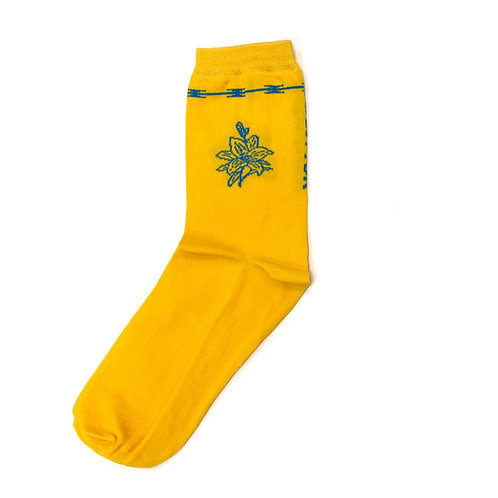 Volchok Socks - Camera - Yellow