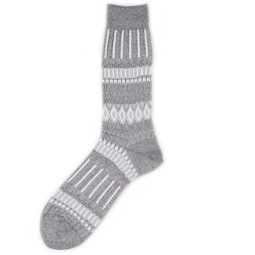 Ayame Socks - Basket Lunch - Grey
