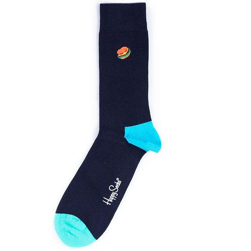 Happy Socks Embroidery - Hamburger