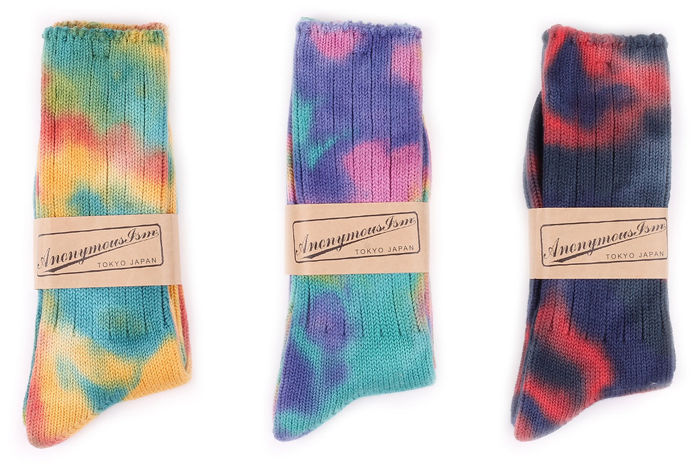 Anonymous Ism Tie Dye Socks at Sock Club Moscow