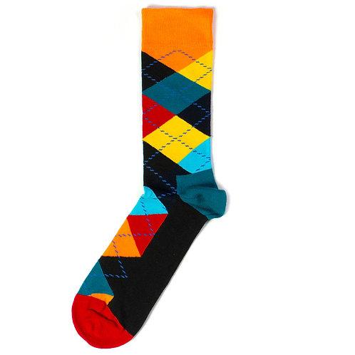 Happy Socks Argyle - Orange/Blue/Red