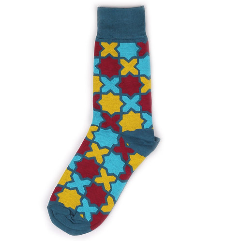 St.Friday Socks - Cross - Blue