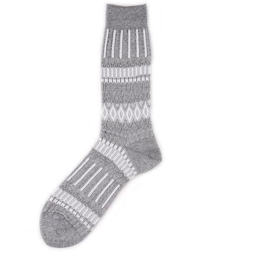 Ayame Socks - Basket Lunch - Grey