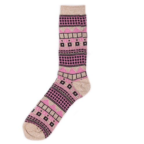Yarn Works Socks - Work #3 - Pink