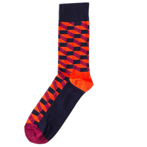 Happy Socks Filled Optic - Black/Red