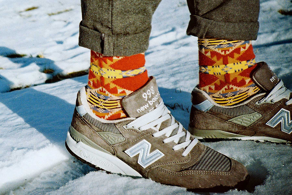 New Balance 998 Sock Club Moscow LookBook