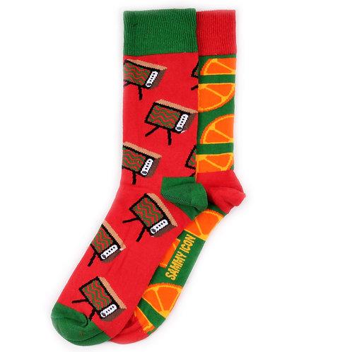 Sammy Icon Socks - Mismatched - Grincht