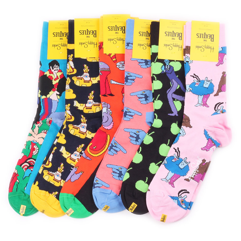 Happy Socks x The Beatles Yellow Submarine Limited Edition Exclusive Sock Collection