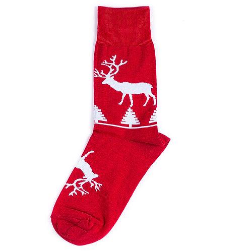 St.Friday Socks - Красные носки с оленями