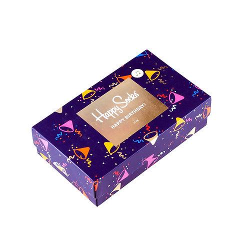Happy Socks 3 Pair Gift Box - Happy Birthday