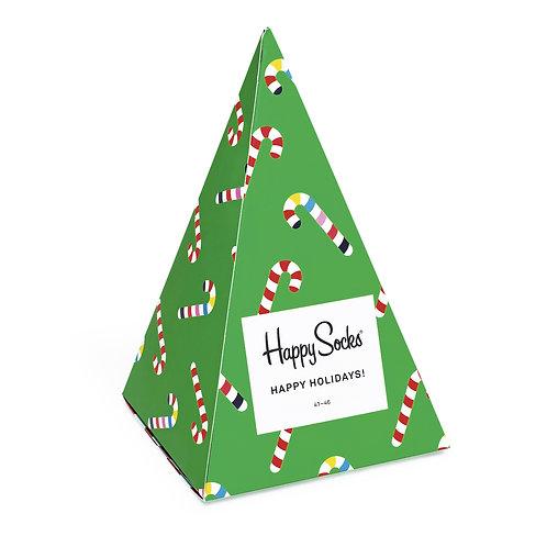 Happy Socks 3 Pair Christmas Tree Gift Box