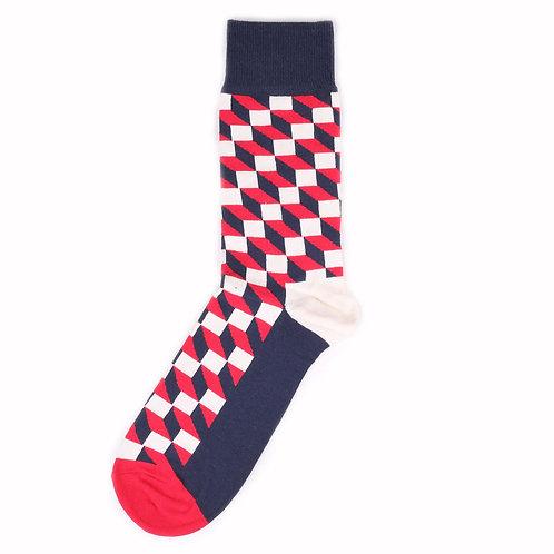 Happy Socks Filled Optic - Red