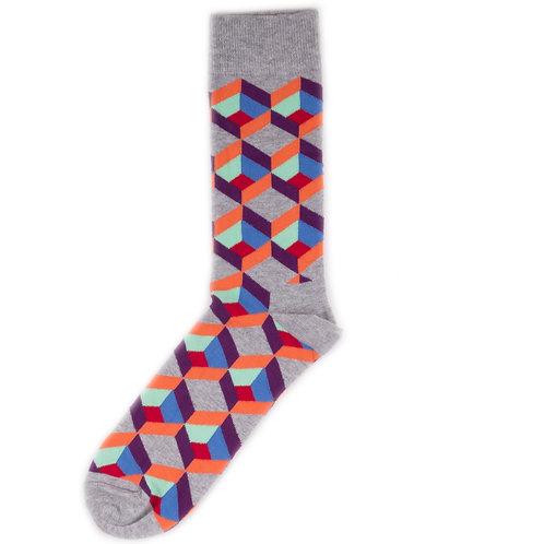 Happy Socks Optic Square - Grey