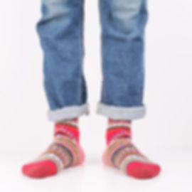 Chup Kihnu Red Socks at Sock Club Moscow