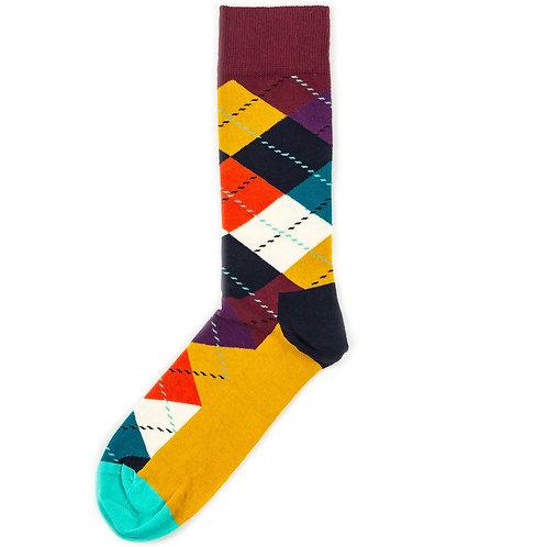Happy Socks Argyle - Brown