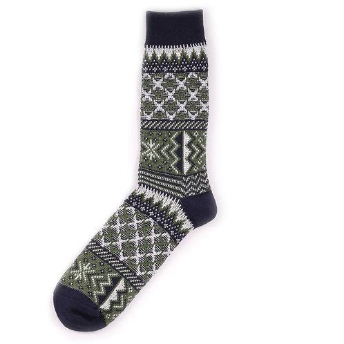 Yarn Works Socks - Work #9 - Green