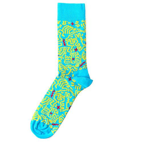 Happy Socks x Keith Haring - All Over Sock