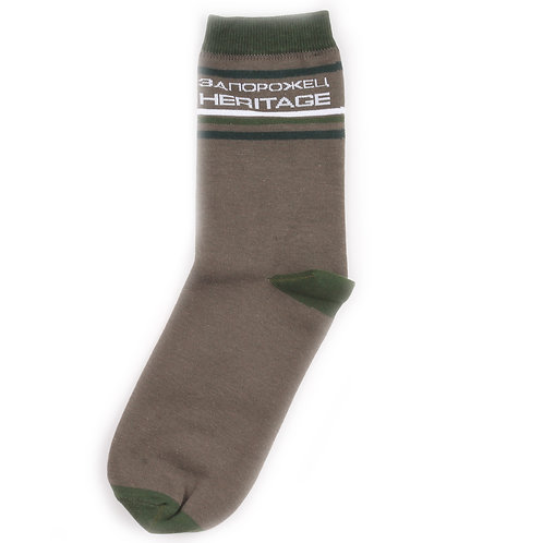 Zaporojec Socks - Stripes - Dark Green