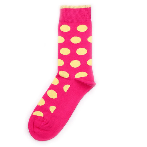 Democratique Socks Originals DotCom Pink Panther / Bright Yellow