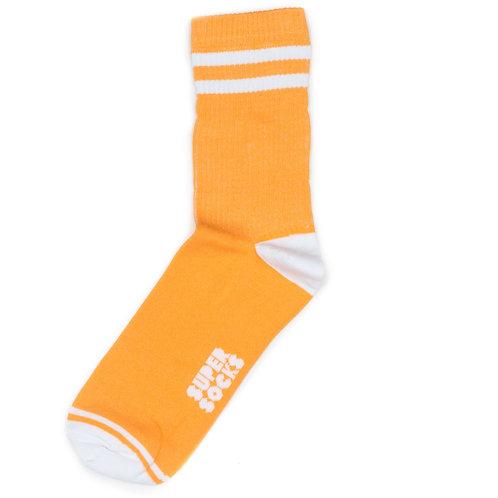 SUPER SOCKS - Две полосы - Оранжевые