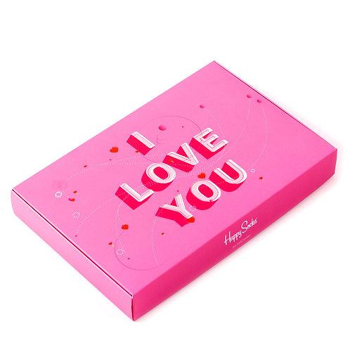 Happy Socks Подарочная упаковка для 4-х пар носков - I Love You