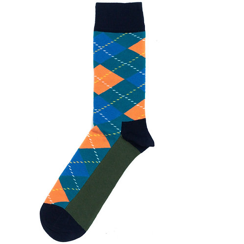 Happy Socks Argyle - Green/Blue/Orange