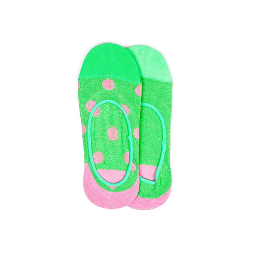 Hysteria 2 Pair Pack No Show - Claudia - Green