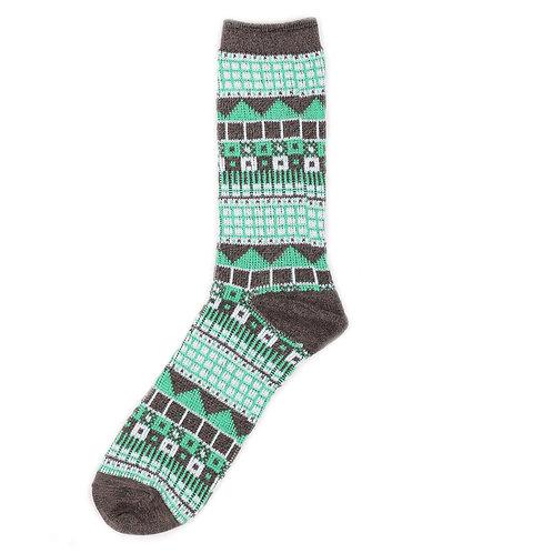 Yarn Works Socks - Work #3 - Green